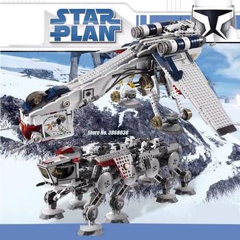 In Stock 05053 Lepining Star Wars 05028 Plan The 10195 Republic Dropship Set Building Blocks Bricks Assembly Toys Kids Gifts