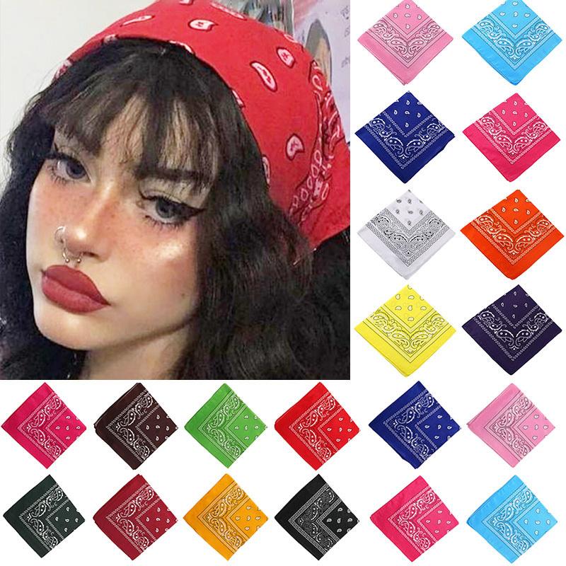 Bohemian Print Bandana Hair Bands for Girls Women Kids Unisex Square Scarf Turban Headband Hair Accessories