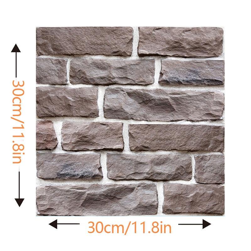 Наклейки на стену 3d панель самоклеящаяся плитка кирпич наклейка