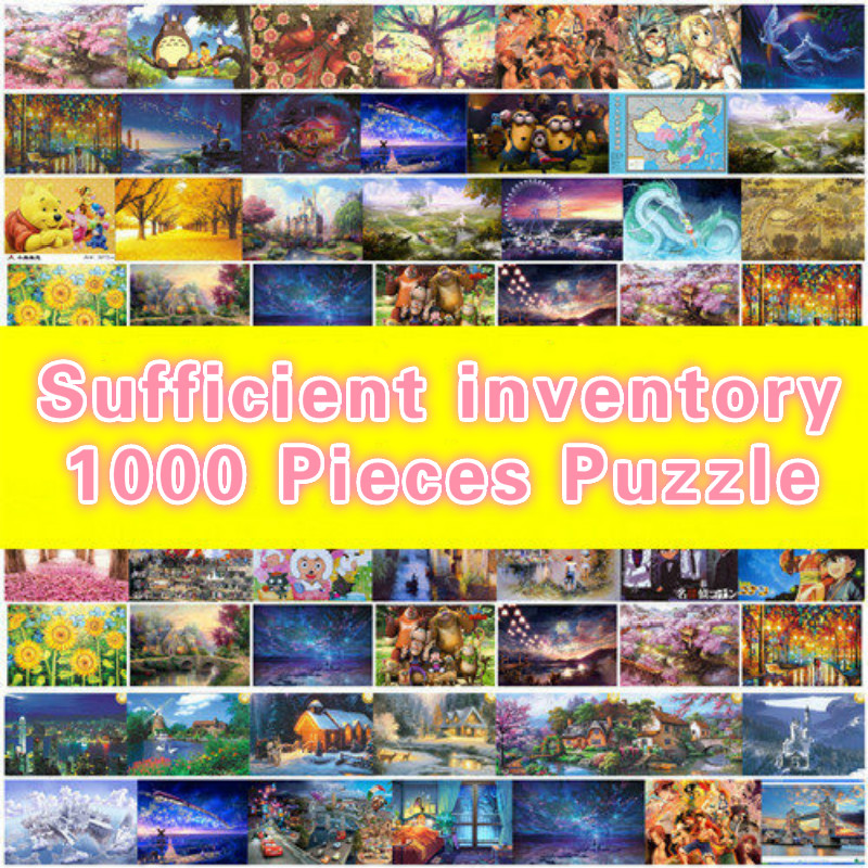 Sufficient Inventory New 1000 Pieces Adult Puzzle Kids Jigsaw Landscape Cartoon Educational Toys For Pairing Puzzles Gift Toys