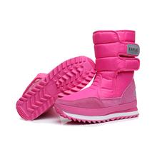 Zimowe śnieg ciepłe futrzane buty kobiety moda metalowa klamra niskie buty na obcasie wodoodporne antypoślizgowe kolorowe wysokie futro pokryte buty narciarskie tanie tanio Velvet Połowy łydki Okrągły nosek Zima Hook loop RUBBER Runa Dla dorosłych Ski Shoes Snow Warm Fur Boots Low Heels Boots