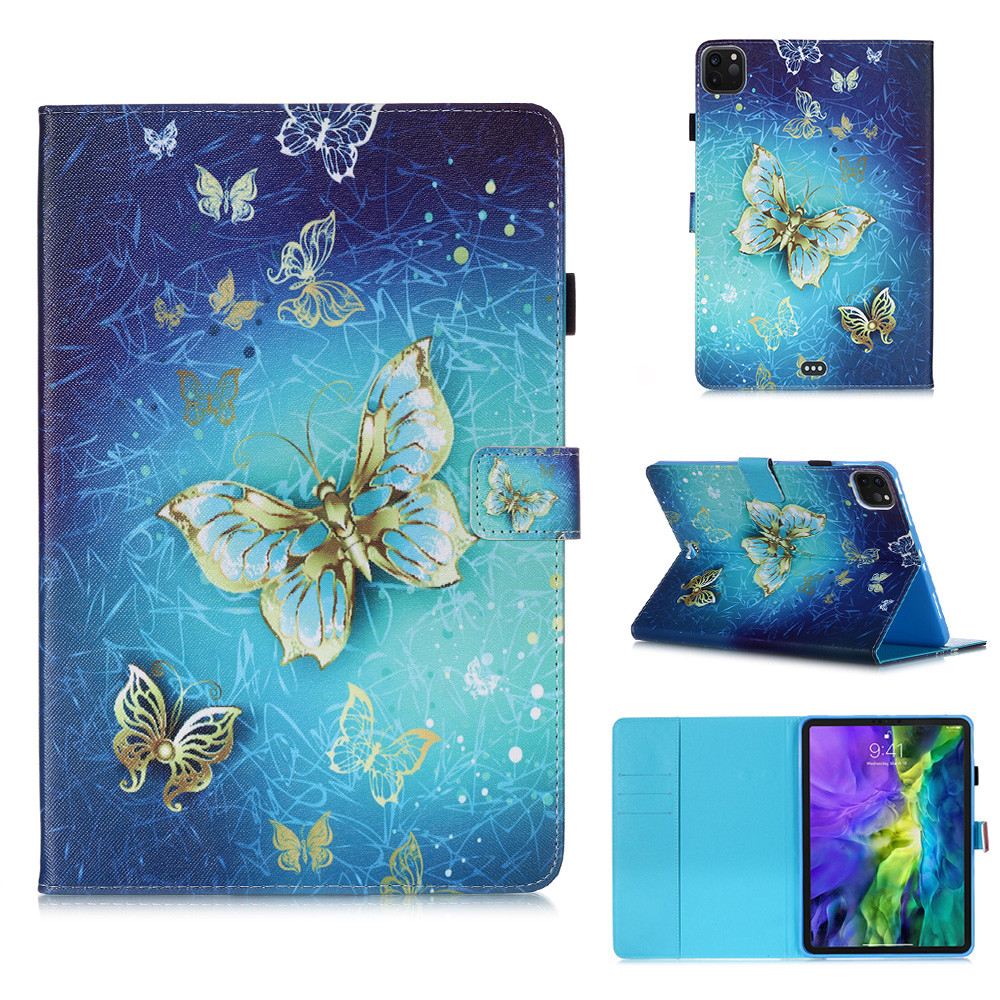13 Khaki Owl Flowers Tablet Cover For iPad Pro 11 Case 2020 Coque Wallet Stand Tablet Funda For