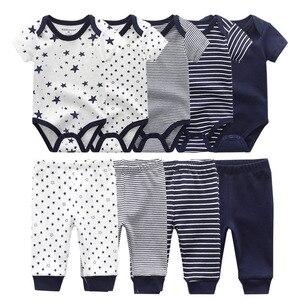 Image 3 - Body liso + Pantalones, conjunto de ropa para bebé de 0 a 12M, ropa para bebé (niño o niña), Unisex, bebé recién nacido, ropa de bebé de algodón