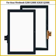 Новый сенсорный экран S200 для Asus Vivobook S200, S200E, X202E, Q200E, сенсорная панель с дигитайзером, сенсорный ЖК-дисплей, переднее стекло