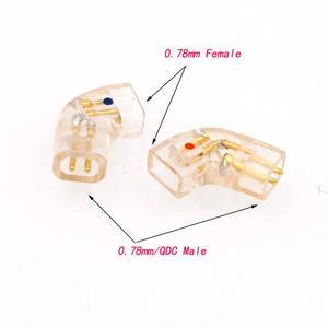 Image 3 - Haldane par banhado a ouro qdc plugue de fone de ouvido para qdc macho para mmcx 0.78mm adaptador conversor fêmea