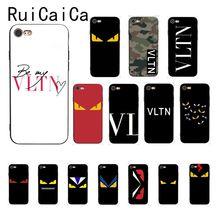 цена Ruicaica demon Yellow eyes VLTN Camouflage Newly Arrived Black Phone Case for iPhone 8 7 6 6S 6Plus X XS MAX 5 5S SE XR Cover онлайн в 2017 году