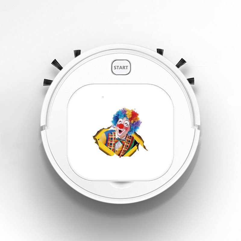 Smart Sweeper Robot House Durable Power Floor Cleaning Robots Vacuum Cleaner 1800pa Clown Afbeelding April Fool's Day