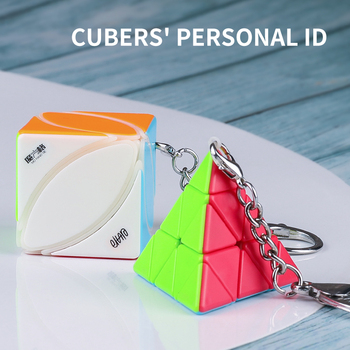 Newest QiYi Mini Keychain Ivy jinzita Magic Cube puzzle MoFangGe Pendant Chain cubo magico key ring Educational Toys Children - discount item  41% OFF Games And Puzzles