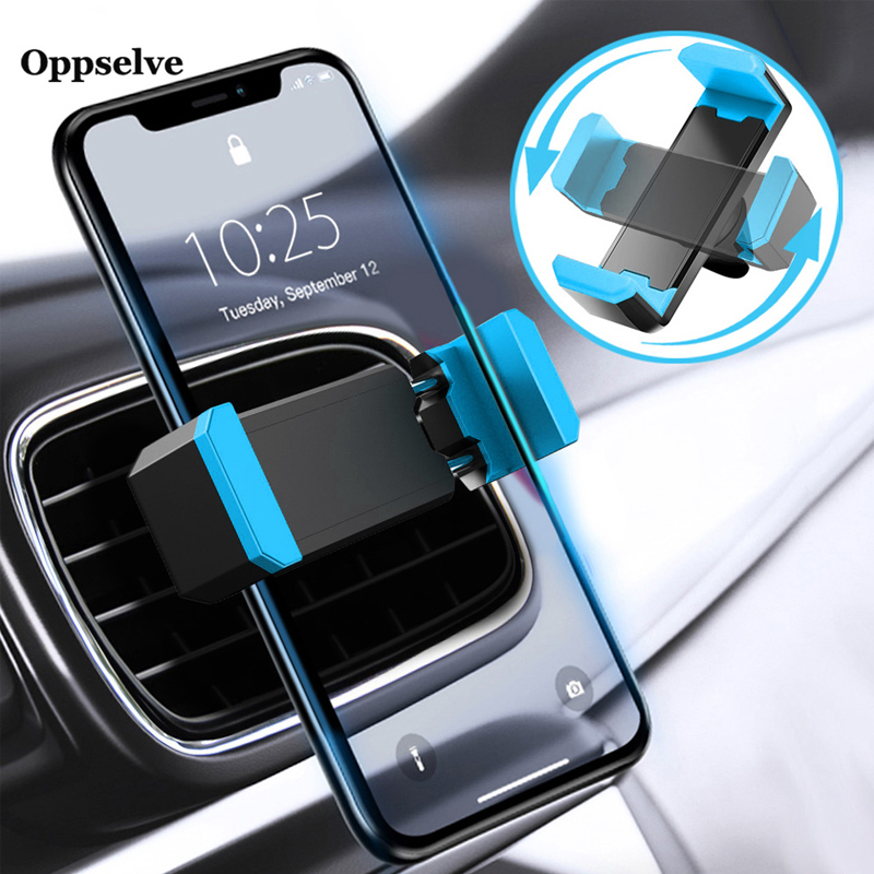 Car Phone Holder For IPhone 11 X XS 8 7 6 Samsung S10 S9 360 Degree Support Mobile Air Vent Mount Car Holder Phone Stand In Car