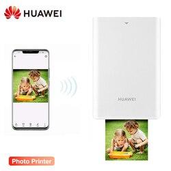 Original huawei ar impressora de fotos portátil mini diy impressoras de fotos para telefone inteligente bluetooth 4.1 300dpi hd foto bolso cv80