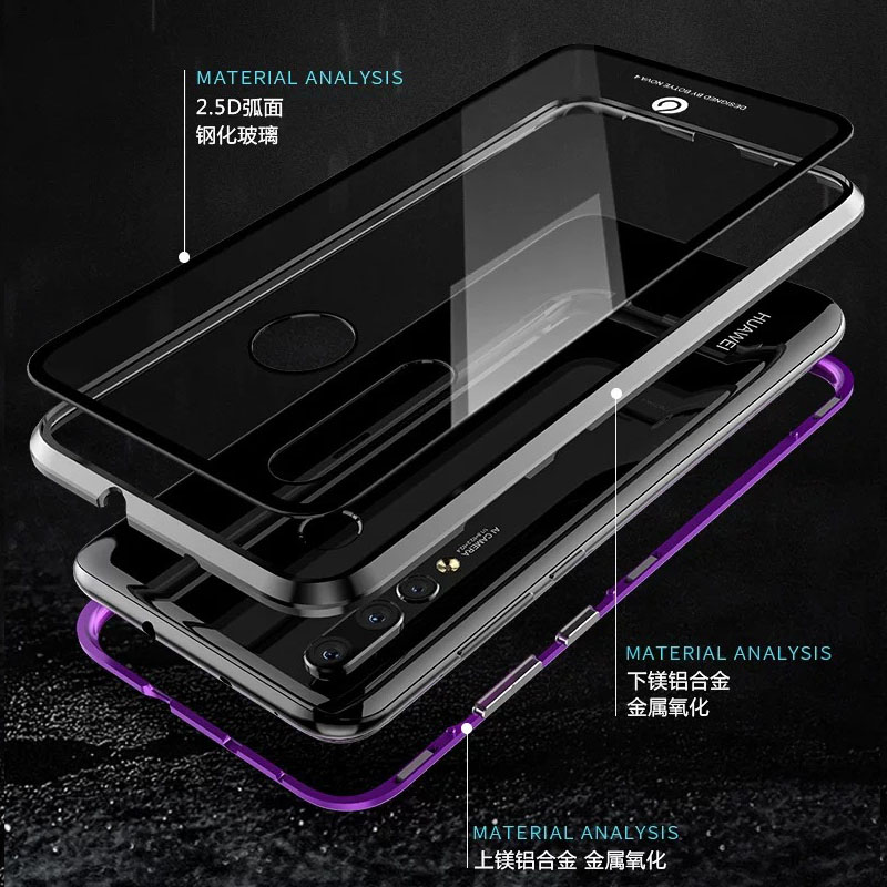 YonLinTan Coque cover Case For Xiaomi Redmi K20 Pro K20Pro Mi 9T Mi9T Metal magnetic Frame Hard tempered glass Phone Back Covers in Half wrapped Cases from Cellphones Telecommunications