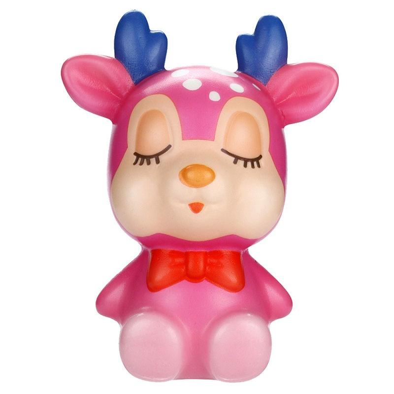 Kids Toy Squishy Kawaii Cream Relief-Toys Scented-Stress Slow Rising Funny Deer Christmas img3