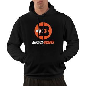 Buffalo Braves 70's Basketball Retro Cool Logo Men's Comfortable Hoodie Sweatershirt Hooded Black coat streetwear gym jogger