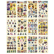 12pcs/lot Naruto Anime Stickers Classic Toys Book Skateboard Doodle Toy Sticker