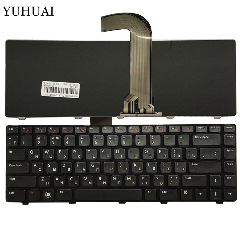 Russian laptop keyboard for DELL Inspiron 14R N4110 M4110 N4050 M4040 N5050 M5050 M5040 N5040 3330 X501LX502L P17S P18 N4120 RU