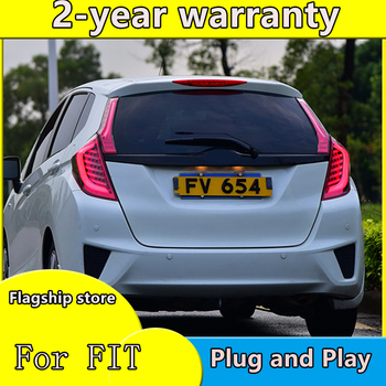 Car Styling for Honda Jazz Fit TAIL Lights LED Tail Light LED Rear Lamp DRL+Brake Signal Whole set High Quality