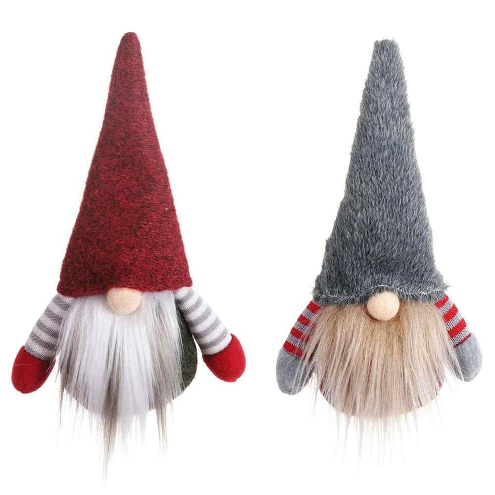Fatti a Mano Giocattolo Farcito di Santa Bambola Svedese Gnome Scandinavo Tomte Nordic Nisse Elf Regalo Dei Capretti Casa Festa di Natale Decor