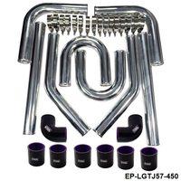 Universele 2.25 Inch 57 Mm Turbo Intercooler Aluminium Siliconen Slang Kit Zwart Lengte: 450 Mm Voor Bmw E39 EP-LGTJ57-450