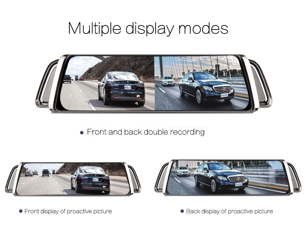 WHEXUNE 4G Android 8,1 Автомобильная dvr камера gps 12 дюймов зеркало заднего вида 2G ram + 3 2G rom видеорегистратор - 5