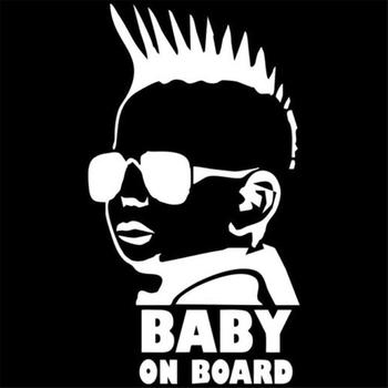 BABY ON BOARD Car Sticker Creative Fashion Tail Warning Sign Decal 6*3.3 image