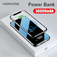 30000mah Power Bank External Battery Bank Portable QI Wireless Charger Powerbank For Xiaomi Mi 9 8 iPhone Mobile phone Charger(China)