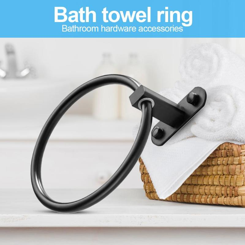 Rust Proof Aluminum Alloy Wall Hanging Rack Towel Ring Delicate Bathroom Clothes Holder Creative And Unique Hardware Gadgets
