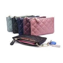Женские кожаные сумки 2020 многокарточный кошелек Алмазный клетчатый