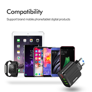 Image 5 - XEDAIN EU/US Display USB 5V 3.1A Charger For iPhone Charger 3 Ports Fast Charging Wall Phone Charger Samsung Xiaomi USB Adapter