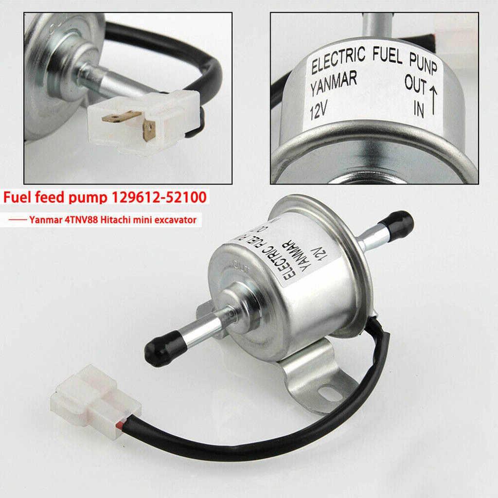 DC 12 В Электронный насос подачи топлива низкого давления 129612-52100 для Yanmar 4TNV88 3TNV88 Тонкий для автомобиля карбюратора мотоцикла ATV 20