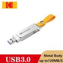 Orijinal Kodak USB Flash sürücü 32GB 64GB k133 metal flash bellek araba taşınabilir 128gb 256gb Cle USB kalem disk sopa USB3.0 kordon