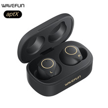 Wavefun Wireless Earphone Bluetooth 5.0 aptX Headphones workout IPX7 Wireless Bluetooth Headset for Smart Watch Smartphones(China)