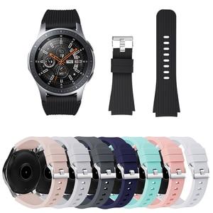 Ремешок для часов samsung Galaxy Watch 46 мм Силиконовый Браслет замена спортивный браслет ремешок Смарт часы Аксессуары 22 мм ремешок