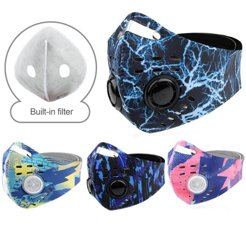 Cycling Face Mask +filters Activated Carbon Windproof Masks Anti-spittle Outdoor Sports Safety Working Running Hiking Face Masks