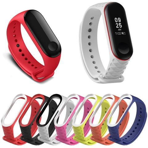 Купить для xiaomi mi ремешок 3 4 спортивные силиконовые часы наручные