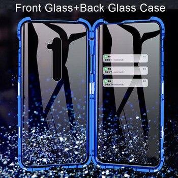 Перейти на Алиэкспресс и купить 360 двухсторонний чехол из закаленного стекла для телефона для OPPO A5 A9 2020 Reno Z 2 2Z 3 Pro противоударный защитный чехол-бампер