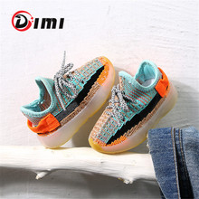 DIMI 2020 Spring Baby Soft Toddler Shoes Breathable Knitting Infant Shoes 0-3 Year Boy Girl Darling Coconut Shoes Child Sneakers