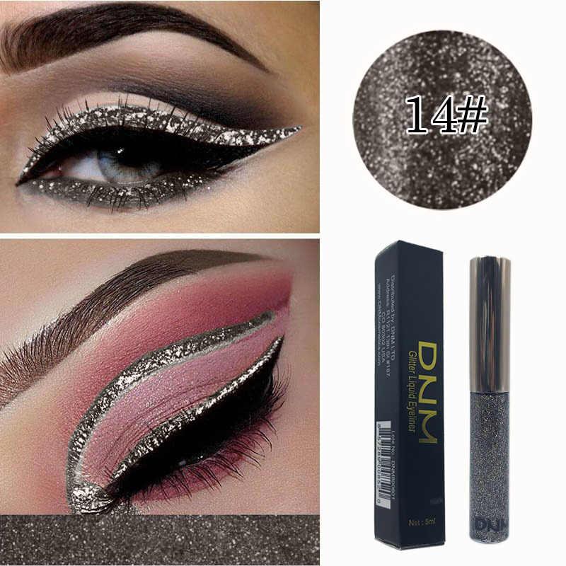 Pérola brilhante à prova dpearágua sombra glitter líquido delineador maquiagem metálico olho forro lápis de longa duração ferramenta cosmética tslm2