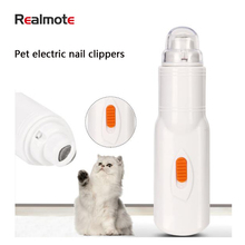RealmoteElectric Pet Nail Clipper Painless Dog Nail Trimmer For Grind Grooming Pet Care Claw Cat Accessories Trimmer Tools