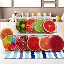 Plush toy creative cartoon 3D cute fruit cushion pillow watermelon Office sponge sofa