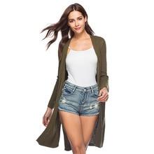 Long Cardigan Feminino Loose Sweater Women 2019 Autumn Winter Plus Size Knitted Womens Coats Outerwear