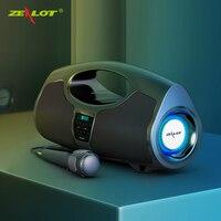 Zealot P1 40W yüksek güç kablosuz Bluetooth hoparlörler ses merkezi taşınabilir ses kutusu güçlü Subwoofer PC bilgisayar