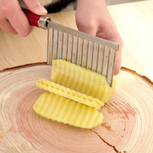 Potato Wavy Cutter Paring Knife Kitchen Knives Vegetable And Fruit Cutting Cooking Kitchen Accessories Stainless Steel knife cheap French Fry Cutters Metal Fruit Vegetable Tools Eco-Friendly
