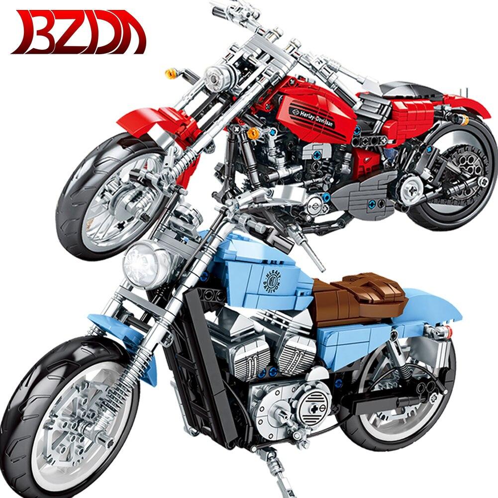 Car-Model-Bricks City-Technic Motorcycle Car-Expert-Toys Building-Blocks Kids BZDA