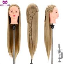 Cabeça de bonecas para cabeleireiros 31 'hair cabelo sintético manequim cabeça penteados feminino manequim cabeleireiro estilo formação cabeça