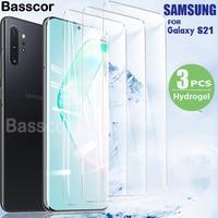 3PCS Volle Abdeckung Screen Protector auf die Für Samsung Galaxy S21 S9 S10 S20 Hinweis 10 20 Lite Plus hydrogel Film Für M21 M31s A40 5G