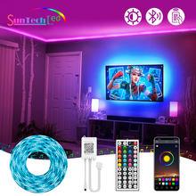 Suntech,SMD 5050 RGB LED Strip Lights,Bluetooth Led Light 5m-30m, Flexible 12v Ribbon Lamp Led Strip For Room