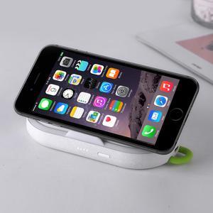 Image 4 - 10W מהיר טעינה אלחוטי מטען + 5000mAh כוח בנק + לילה אור + נייד טלפון מחזיק עבור iPhone xiaomi טלפון מטען