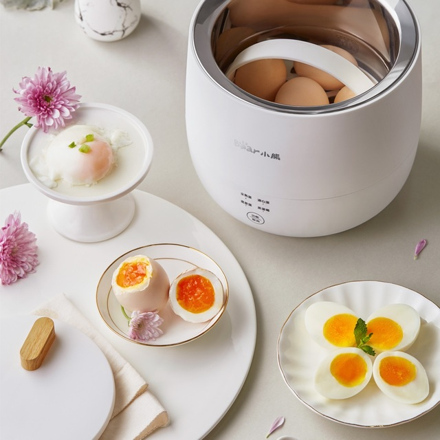 220V Electric Egg Cooker Household Breakfast Maker Multi Egg Custard/Hotspring Egg/Poached Egg/Boiled Egg Steaming Cooker 5