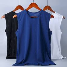 Homens correndo peso colete malha esportes wear para homem ginásio fitnss wear estiramento tecido de algodão inteiro sela preço homem regata 2020