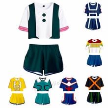 Anime Boku No Hero Academia My Hero Academia Cosplay Costume Ochaco Uraraka Todoroki Shoto Bakugou Katsuki Top+ Short XS-XXL
